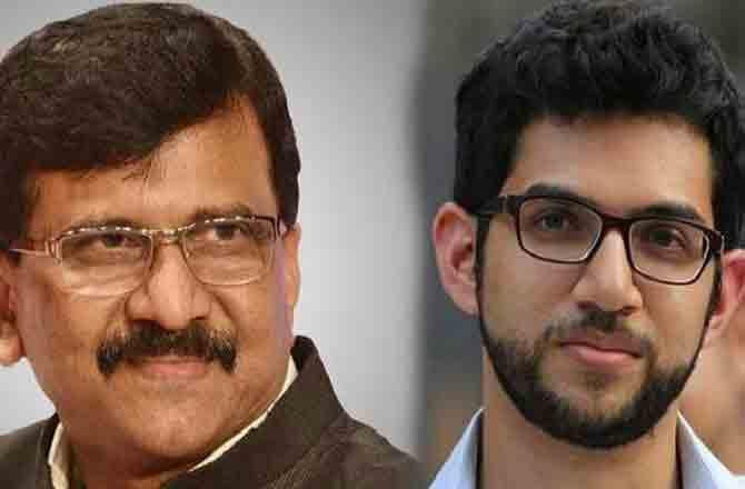 Aditya Thackeray and Sanjay Raut - Pic : INN