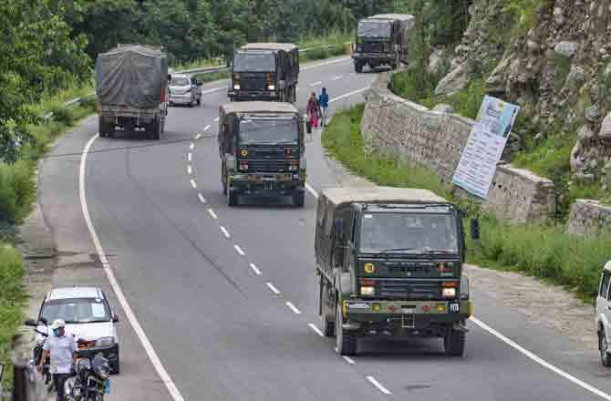 Indian Army Truck - Pic : PTI