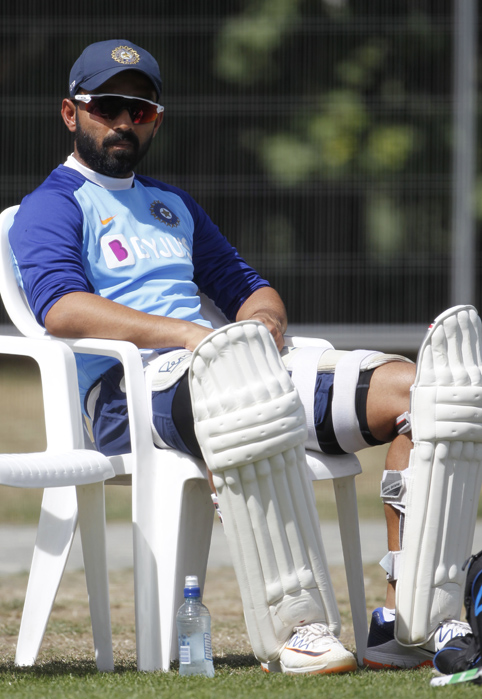 "<p style=""text-align: right;"">ٹیم انڈیا کے نائب کپتان اجنکیارہانے میدان پر پُرسکون بیٹھے ہوئے ہیں اور وہ اگلے میچ کے بارے میں سوچ رہے ہیں۔ ان سے بھی بہترکھیل کی امید کی جارہی ہے۔</p>"