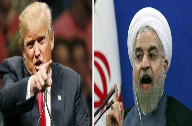 روحانی اور ٹرمپ ۔ تصویر : آئی این این
