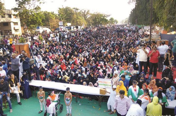 ممبرا میں یوم جمہوریہ کے موقع پر منعقدہ ریلی ۔ تصویر : انقلاب