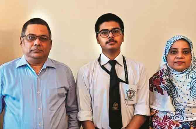 Mohammed Zaid with Parents