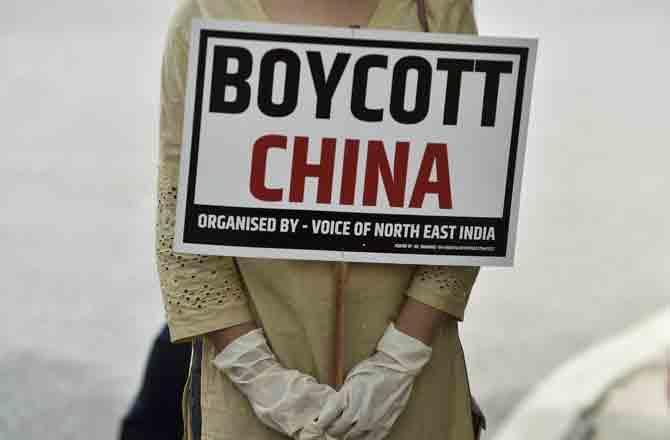 Boycott China - Pic : PTI