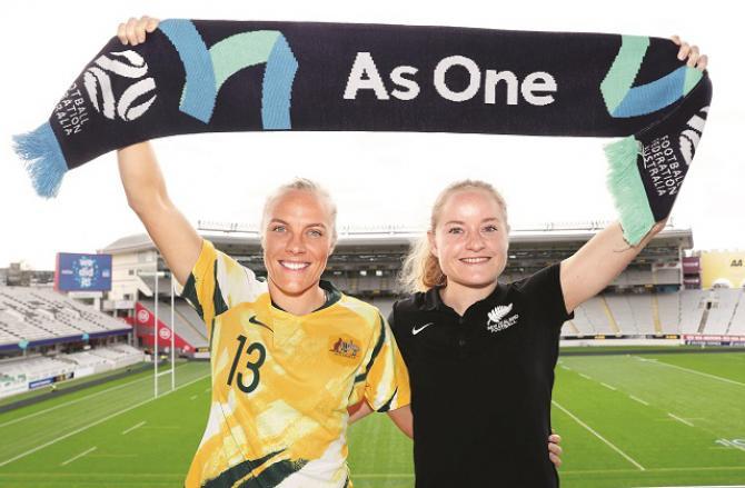 New Zealand and Australian female players. Photo: INN