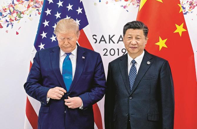 Xi Jinping and Donald Trump. Photo: INN