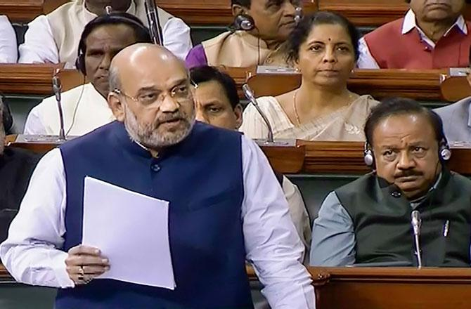 Amit Shah in Parliment - Pic : PTI