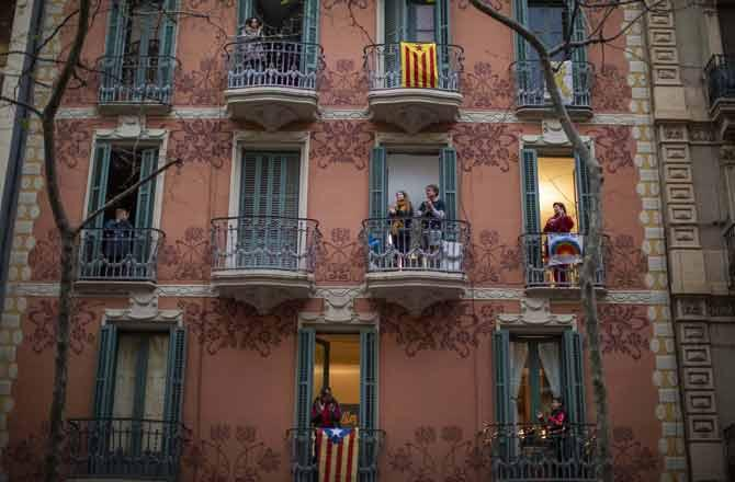 Barceloan, Lockdown - Pic : PTI