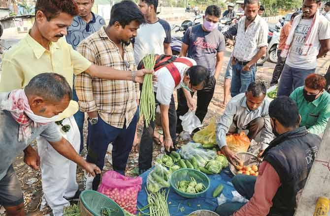 Moradabad Vegetable Market - Pic : PTI