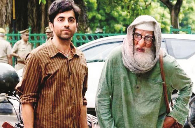 Amitabh Bachchan and Ayushman Khurana. Photo: INN