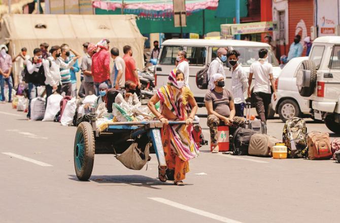 Migrant laborer. Photo: PTI