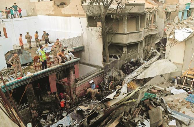 Plane crash Photo: PTI