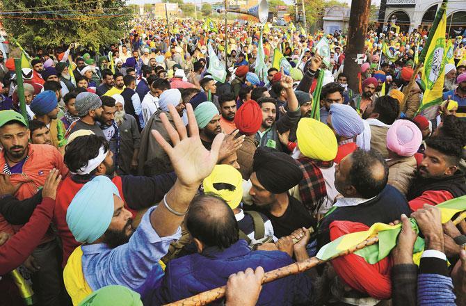 Farmers Protest - Pic : PTI