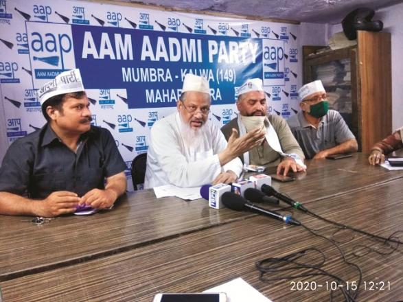 Dr. Al-Tamish Faizi is addressing a press conference along with his other leaders.Picture:INN