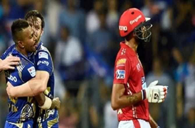 Mumbai Indian And Kings XI Punjab. Picture:INN