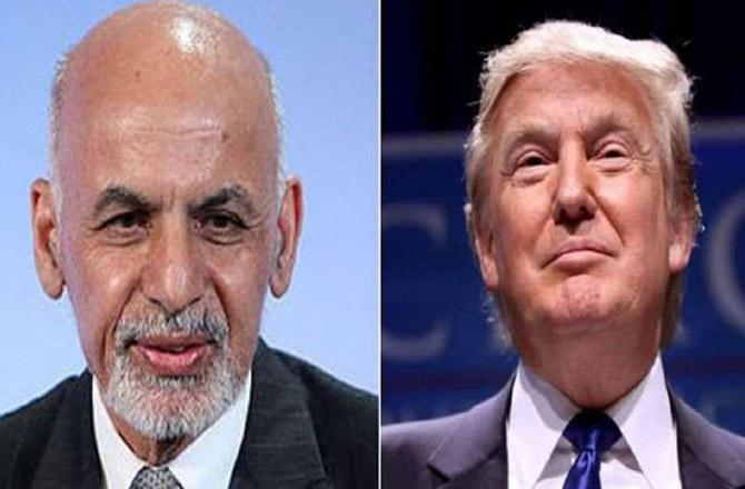 Trump and Ghani - Pic : INN