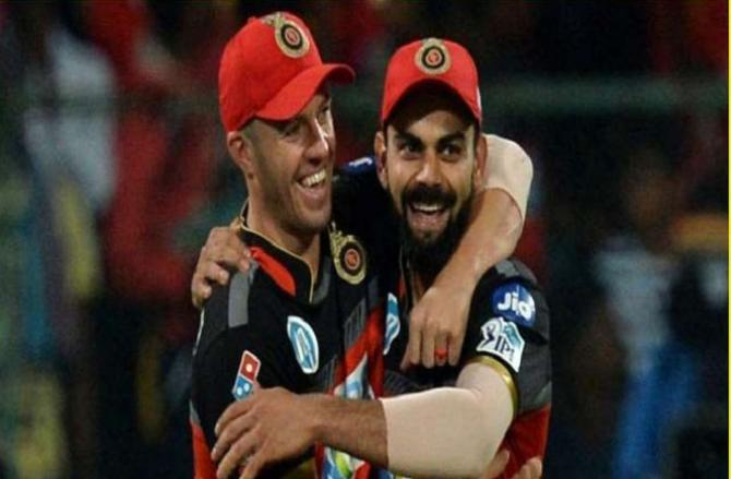 AB de Villiers and Virat Kohli. Picture:INN