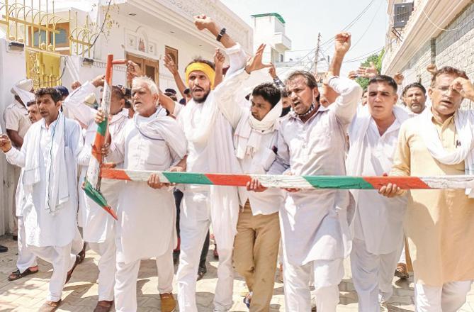 Farmers protest - Photo: PTI