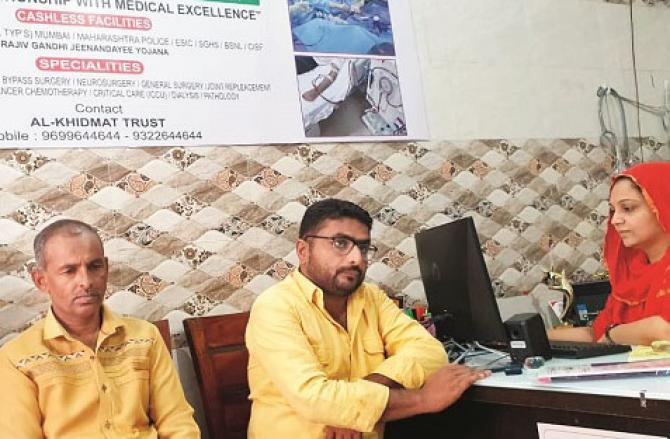 Staff at the Khidmat Trust office at Maloni Gate No.8 are busy.Picture:INN