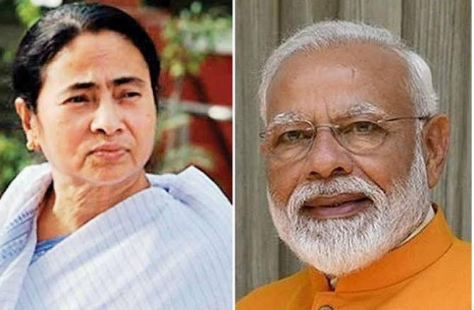 Narendra Modi And Mamata Banerjee.Picture:INN