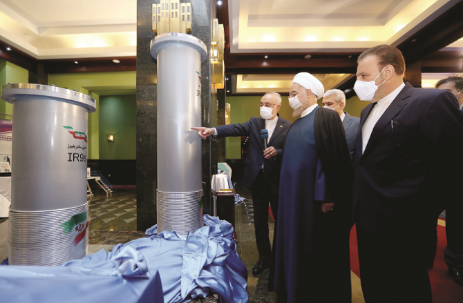 President Hassan Rouhani inspected the plant a day before the attack.Picture:Agency