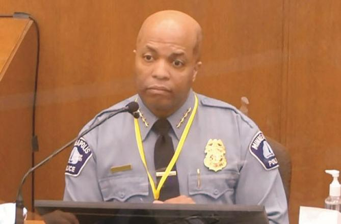 Minneapolis City Police Chief Medaria Aradando in the courtroom. Picture:Agency