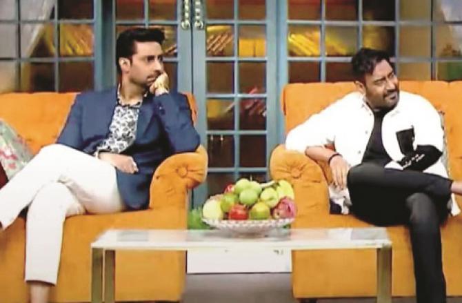 Ajay Devgan And Abhishek Bachchan.Picture :INN