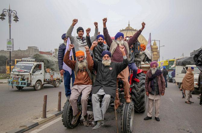 Tractor March - Pic : PTI