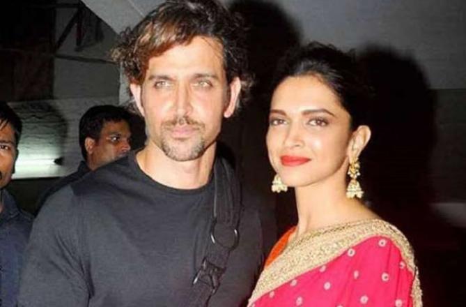 Hrithik Roshan and Deepika Padukone. Picture:INN
