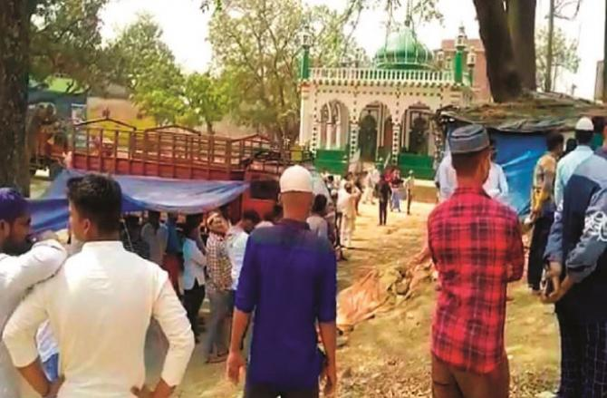 Gharib Nawaz Mosque located at Ram Asnihi Ghat which was martyred.Picture:INN