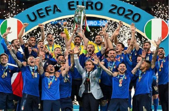 Italy became Euro champions in a penalty shootout..Picture:INN