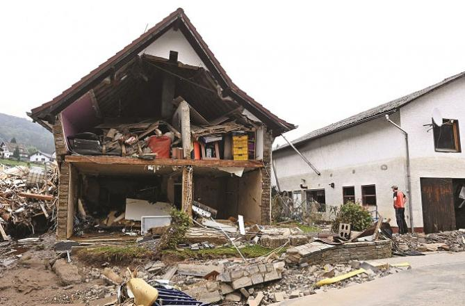 The affected areas of Germany and Belgium have been devastated.Picture:INN