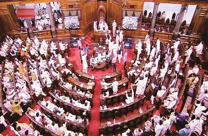 No action could be taken on the first day of the session due to opposition protests.Picture:PTI