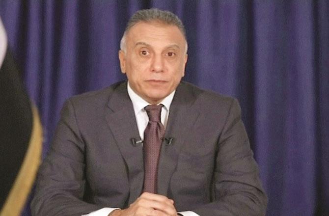 Iraqi Prime Minister Mustafa alKhadimi .Picture:INN