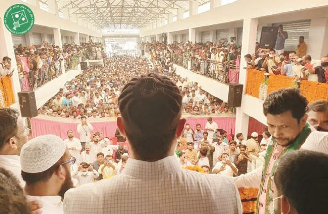 Asaduddin Owaisi addressing at Bihar.Picture:INN