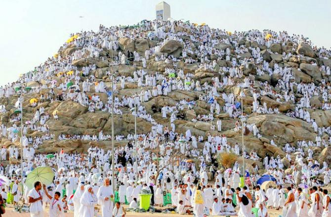 Pilgrims gather in Arafat Square on the 9th day of the first decade of Dhu al-Hijjah.Picture:INN