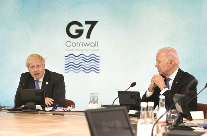 US President Joe Biden and British Prime Minister Boris Johnson are committed to the G7 summit. Photo: PTI