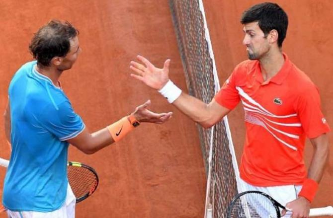 Novak Djokovic and Rafael Nadal.Picture:INN