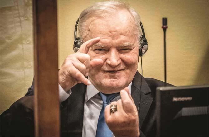 During the hearing, Ratko Mladic (Photo: Agency)
