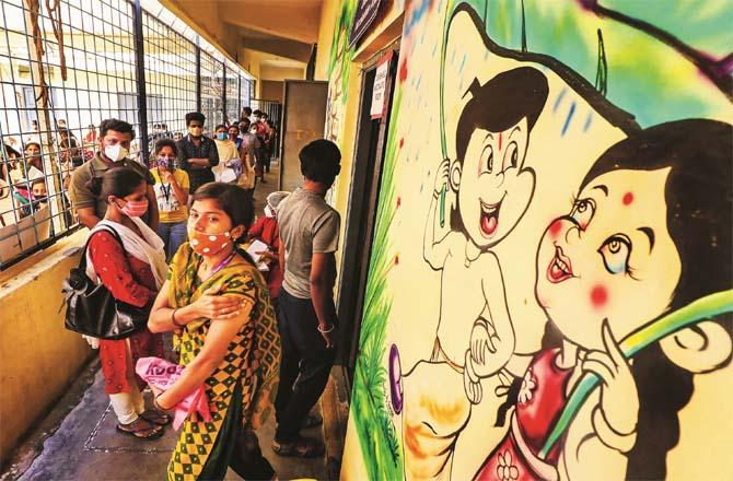 The only way to prevent coronavirus right now is to get vaccinated.Picture:PTI