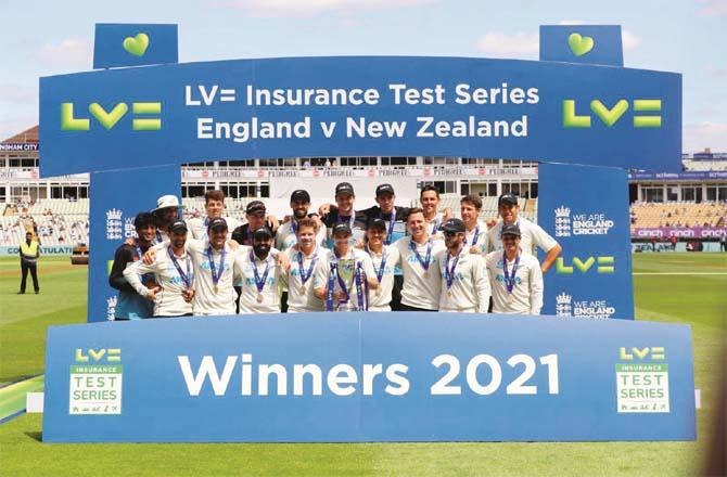 New Zealand won the Test series against England.Picture:PTI