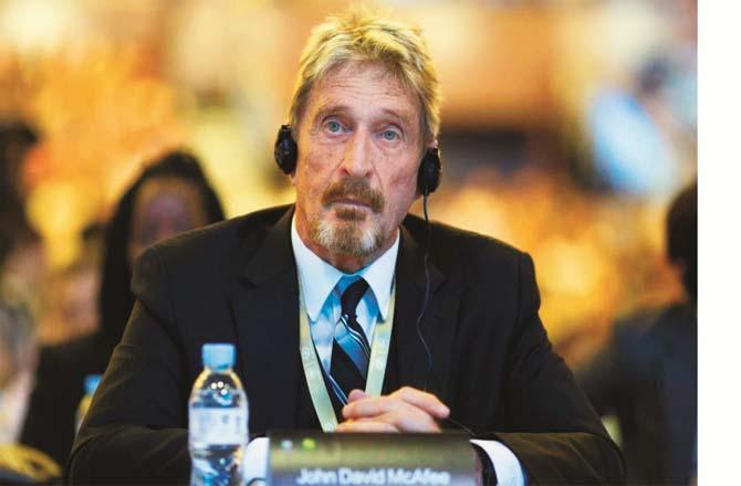John McAfee was complaining of a conspiracy against him (file photo)