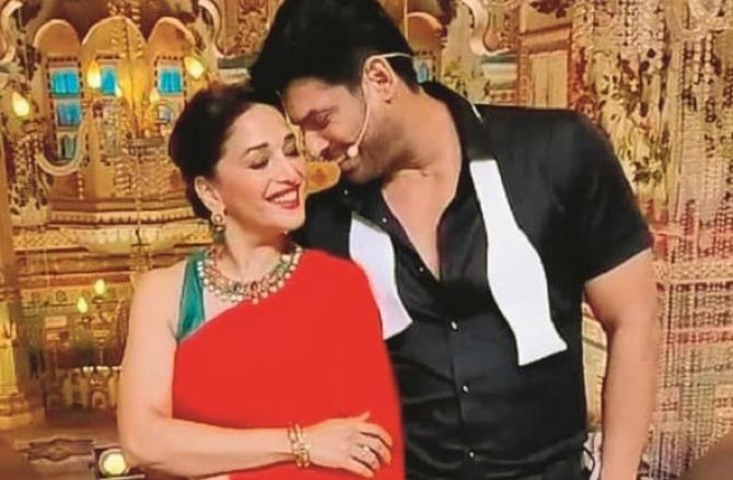 During Madhuri Dixit and Siddharth Shakladans.Picture:INN