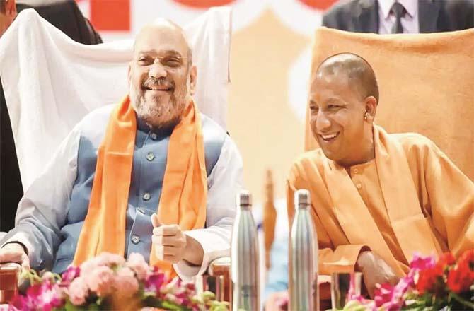 Uttar Pradesh Chief Minister Yogi Adityanath and Union Home Minister Amit Shah.Picture:INN