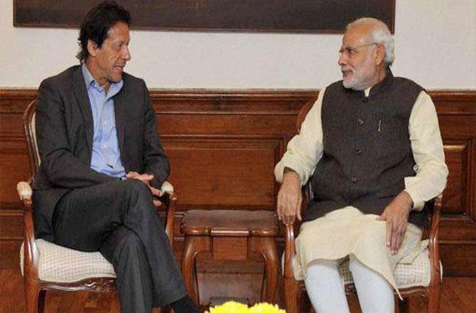 Modi and Imran - Pic : INN