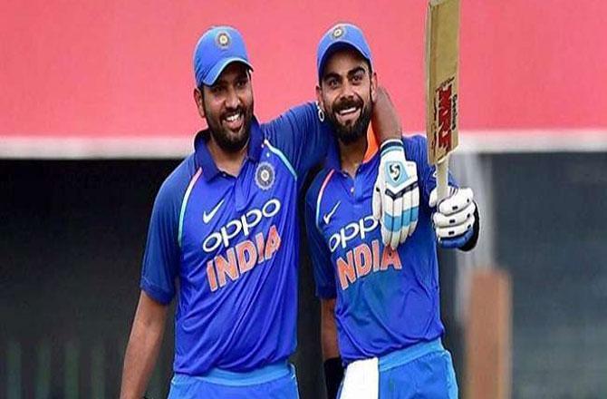 Rohit and Virat - Pic : INN