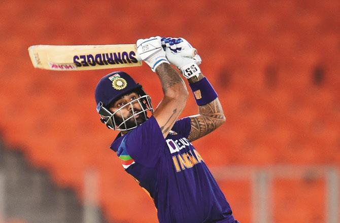 Surya Kumar Yadav played an innings of 57 runs in 31 balls.Picture:PTI