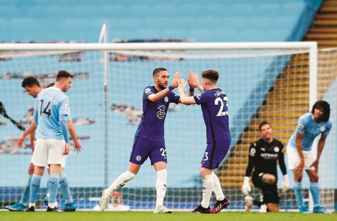 One of the matches between Manchester City and Chelsea in the EPL. Picture:PTI