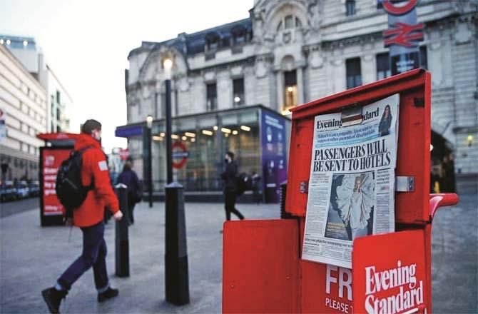 Foreigners are being quarantined in the UK.Picture:PTI