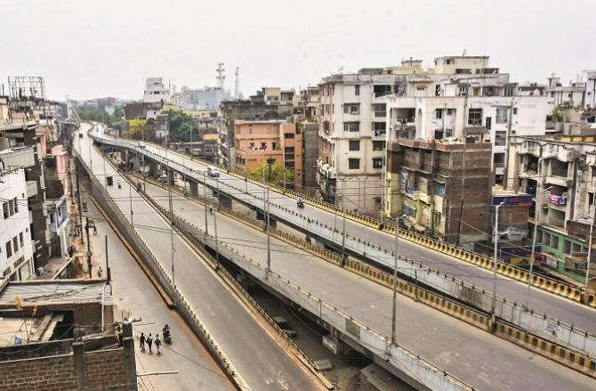 Effect of lockdown in Patna.Picture:PTI