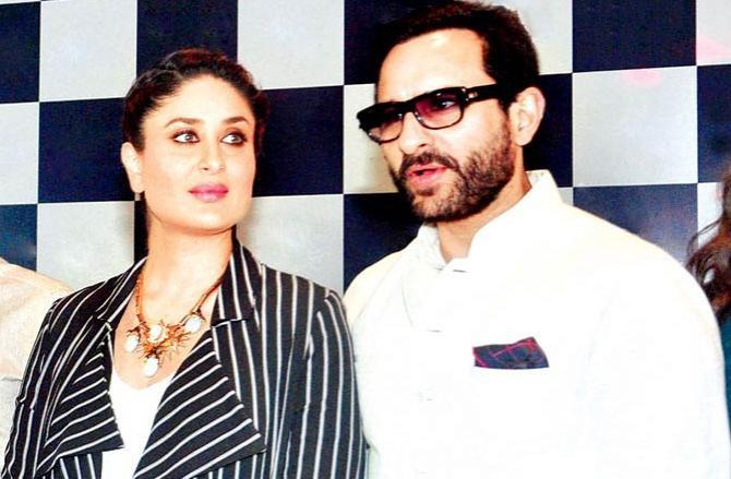 Saif Ali Khan and Kareena Kapoor. Picture:INN